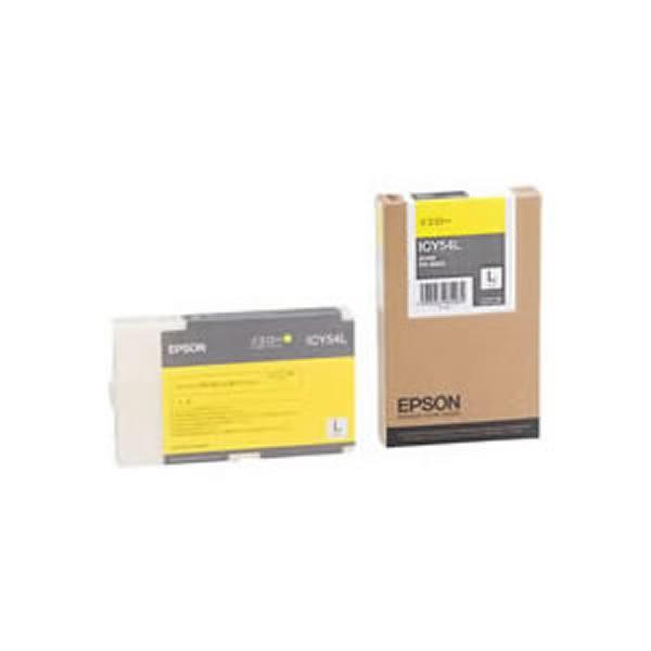 (業務用3セット) 【純正品】 EPSON エプソン インクカートリッジ/トナーカートリッジ 【ICY54L Y イエロー】