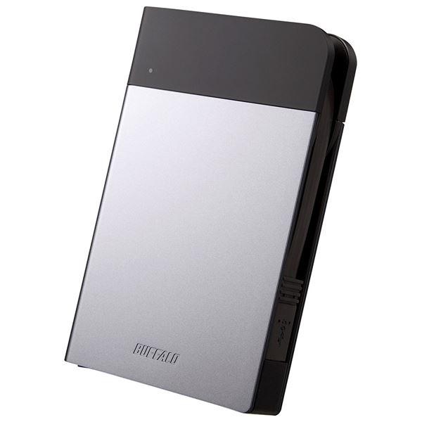 バッファロー ICカード対応MILスペック 耐衝撃ボディー防雨防塵ポータブルHDD 2TB シルバー HD-PZN2.0U3-S