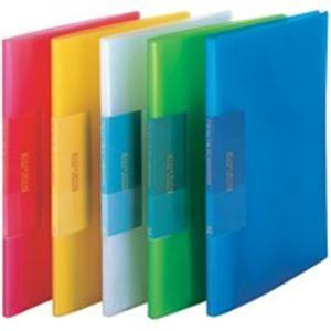 (業務用100セット) ビュートン 薄型クリアファイル/ポケットファイル 【A4】 20ポケット FCB-A4-20C ブルー(青)