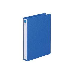 (業務用100セット) LIHITLAB ツイストリング式ファイル 【B5/2穴】 タテ型 F802UN-5 藍
