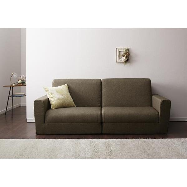 ソファーベッド 190cm【Ceuta】ブラウン ポケットコイルで快適快眠ゆったり寝られるデザインソファベッド【Ceuta】セウタ【代引不可】