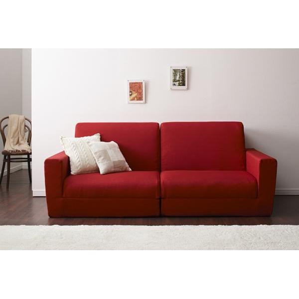 ソファーベッド 190cm【Ceuta】レッド ポケットコイルで快適快眠ゆったり寝られるデザインソファベッド【Ceuta】セウタ【代引不可】