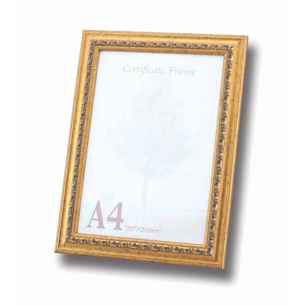 【A4フレーム】OA額スタンド付き ■金フレーム A4(297×210mm)ゴールド【10枚セット】