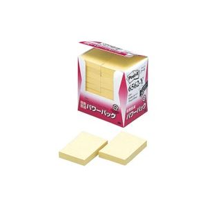 【スーパーSALE限定価格】(業務用20セット) スリーエム 3M ポストイット 再生紙経費削減 6562-Y イエロー