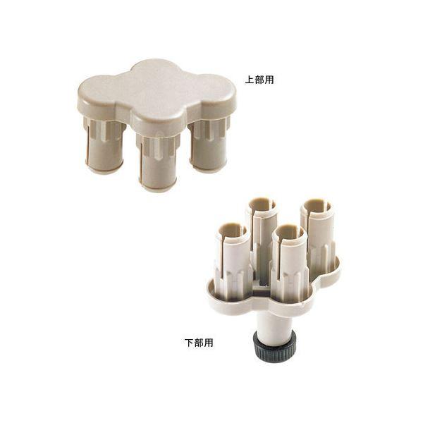 (業務用10セット) ジョインテックス 衝立SPX 4方向連結樹脂上下セット SPX-4S