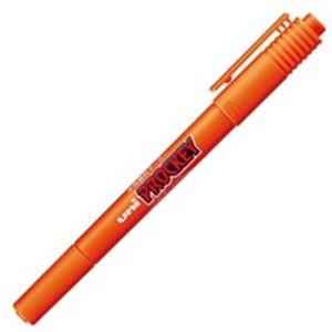 (業務用300セット) 三菱鉛筆 水性ペン/プロッキーツイン 【細字/極細】 水性顔料インク PM-120T.4 橙