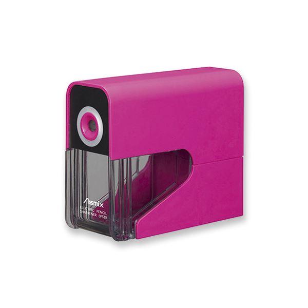 タテにもヨコにも置ける スリムな乾電池式 まとめ アスカ 爆買いセール ×5セット 一部予約 乾電池式電動シャープナー ピンク