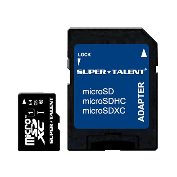 (まとめ)スーパータレント UHS-ICLASS10対応 microSDXCカード 64GB ST64MSU1P 1枚【×3セット】