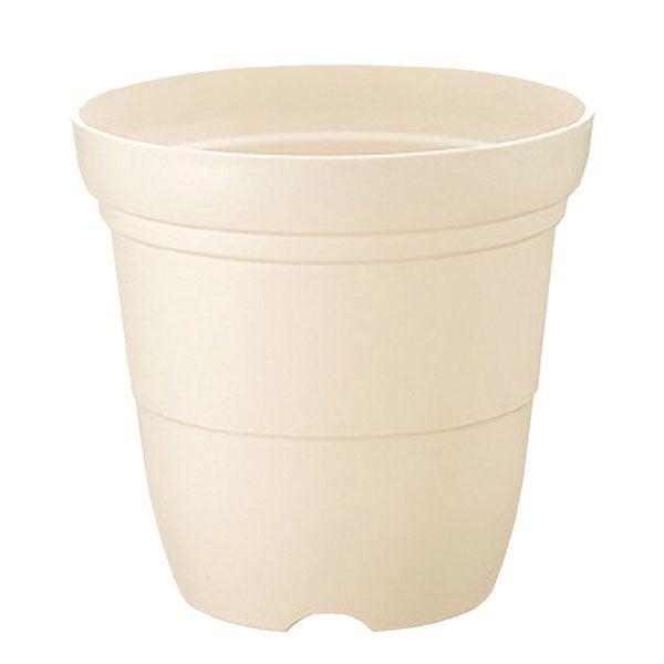 (まとめ) ホワイト ガーデニング 植木鉢/ポット プラスチック製 8号】 『カラーバリエ』 【長鉢 園芸 【×30個セット】