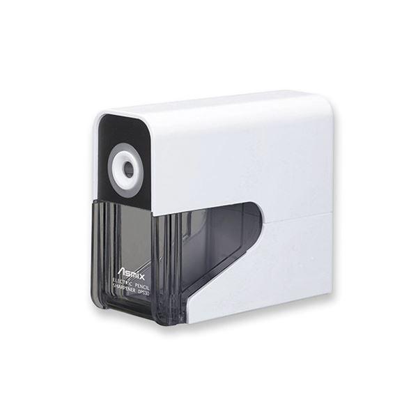 タテにもヨコにも置ける スリムな乾電池式 まとめ 公式ショップ アスカ ホワイト 豪華な 乾電池式電動シャープナー ×5セット