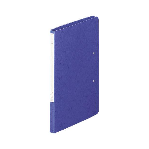 (まとめ) リヒトラブ パンチレスファイルZ式A4タテ(A3・2ツ折) 60枚収容 背幅15mm 藍 F-307-5 1セット(10冊) 【×5セット】