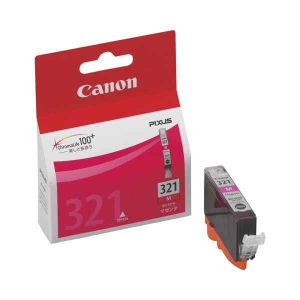 (まとめ) キヤノン Canon インクタンク BCI-321M マゼンタ 2929B001 1個 【×10セット】