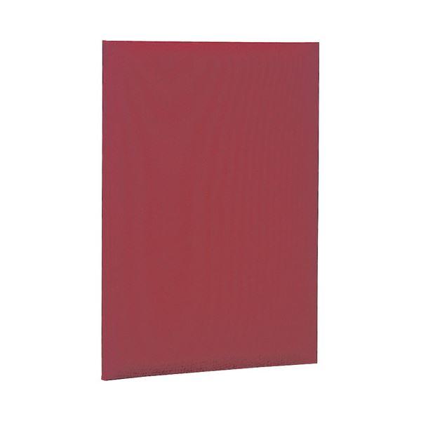 証書ファイル 布クロス貼りタイプ 二つ折りタイプ A4 赤 【×10セット】