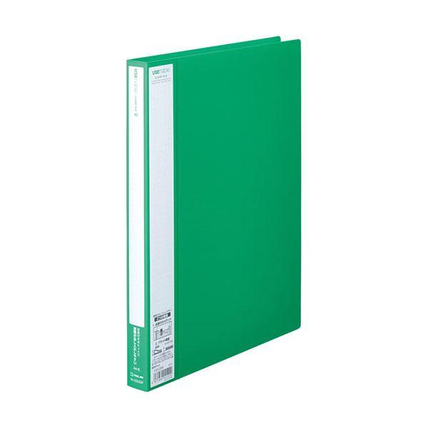 緑 キングジム ユーズナブルクリアーファイル 40ポケット A4タテ 1冊 背幅24mm (まとめ) 【×30セット】 133USWミト