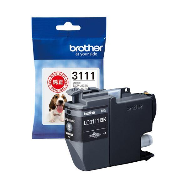 (まとめ) ブラザー インクカートリッジ ブラックLC3111BK 1個 【×10セット】