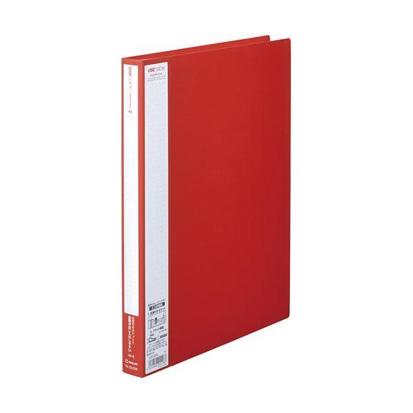 (まとめ) キングジム ユーズナブルクリアーファイル A4タテ 40ポケット 背幅24mm 赤 133USWアカ 1冊 【×30セット】