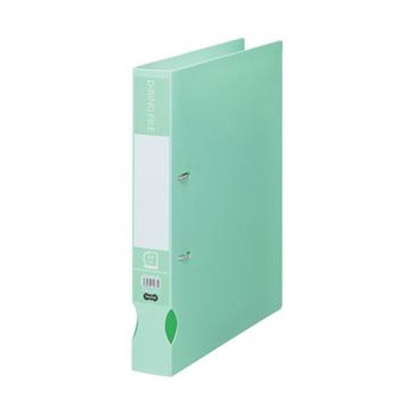 (まとめ)TANOSEE Dリングファイル(再生PP表紙)A4タテ 2穴 300枚収容 背幅43mm ミントグリーン 1冊【×50セット】