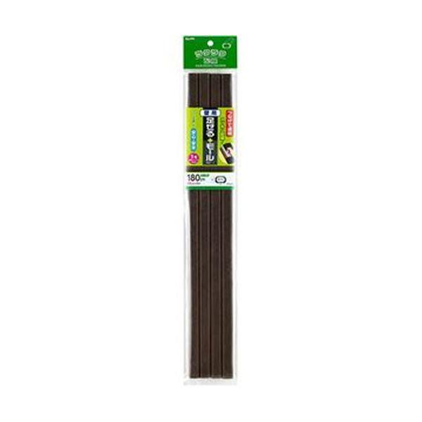 (まとめ)ELPA 足せるモール 壁用1号45cm テープ付 木目調ダーク PSM-M145P4(DK)1パック(4本)【×10セット】