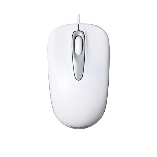 (まとめ)サンワサプライ 有線光学式マウス MA-R115W ホワイト【×30セット】