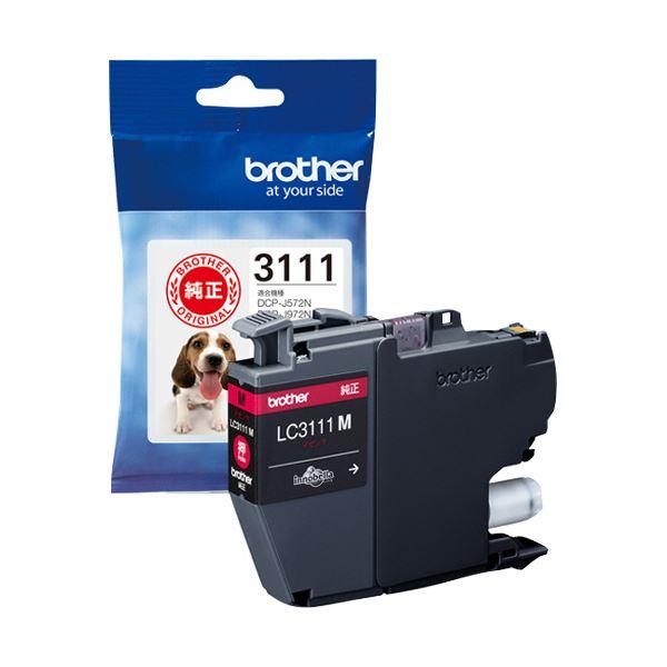 (まとめ) ブラザー インクカートリッジ マゼンタLC3111M 1個 【×10セット】