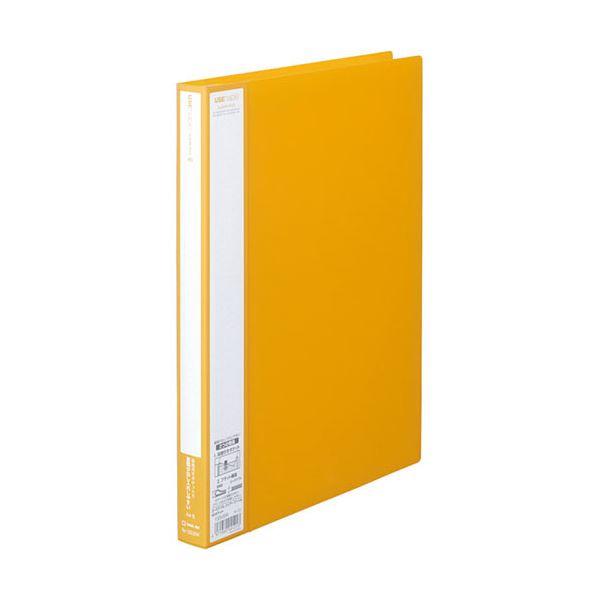 (まとめ) キングジム ユーズナブルクリアーファイル A4タテ 40ポケット 背幅24mm 黄 133USWキイ 1冊 【×30セット】