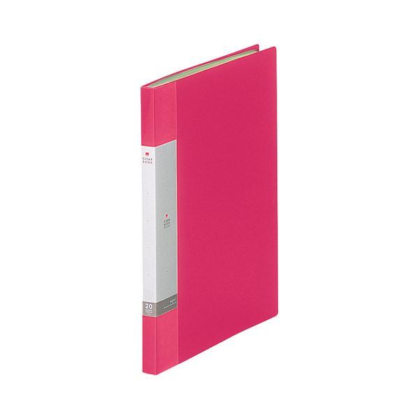 1冊 20ポケット リクエスト リヒトラブ 【×30セット】 A4タテ G3201-3 クリヤーブック(クリアブック) 背幅16mm (まとめ) 赤