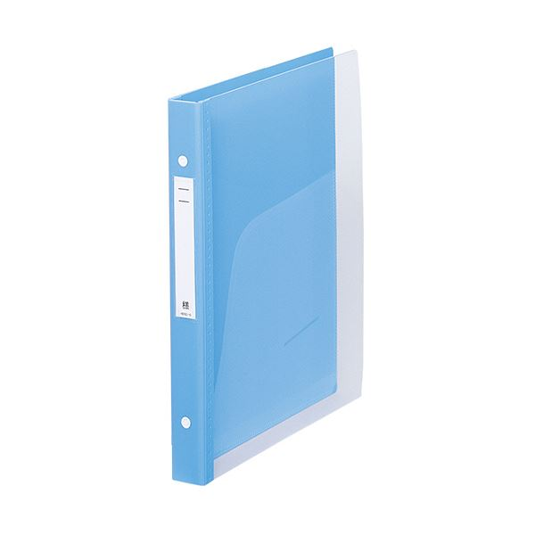 (まとめ) リヒトラブメディカルサポートブック・クリヤー A4タテ 4穴 180枚収容 ブルー HB667-1 1冊 【×10セット】