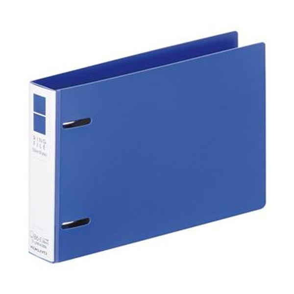 (まとめ)コクヨ リングファイル(スリムスタイル)B6ヨコ 2穴 220枚収容 背幅33mm 青 フ-URF438B 1冊【×50セット】