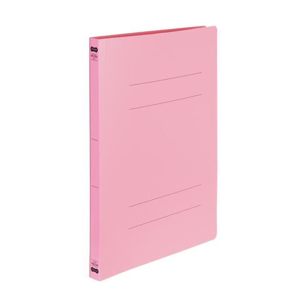 (まとめ) TANOSEE書類が出し入れしやすい丈夫なフラットファイル「ラクタフ」 A4タテ 150枚収容 背幅20mm ピンク1セット(25冊:5冊×5パック) 【×5セット】
