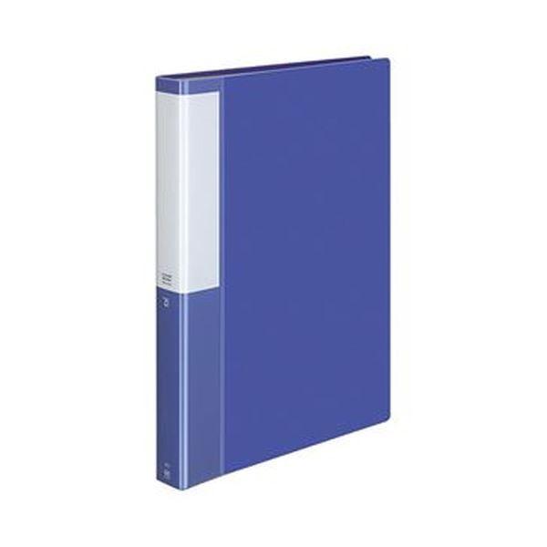 (まとめ)コクヨ クリヤーブック(POSITY)固定式 A4タテ 60ポケット 背幅35mm ブルー P3ラ-L60NB 1セット(4冊)【×5セット】