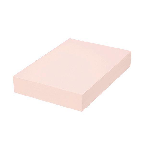 (まとめ) TANOSEE αエコカラーペーパーIIフレッシュピンク A4 1セット(2500枚:500枚×5冊) 【×5セット】
