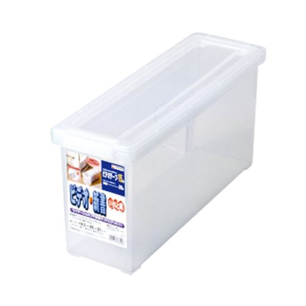 (まとめ) クリア 収納ボックス/収納ケース 【ビデオ・新書】 フタ付き 『いれと庫』 【×18個セット】