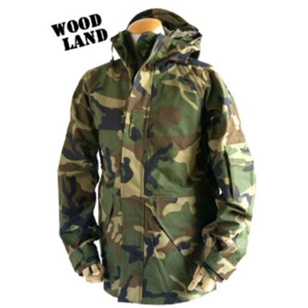 アメリカ軍 ECWC S-1ジャケット/パーカー 【 Mサイズ 】 透湿防水素材 JP041YN ウッドランド カモ( 迷彩) 【 レプリカ 】