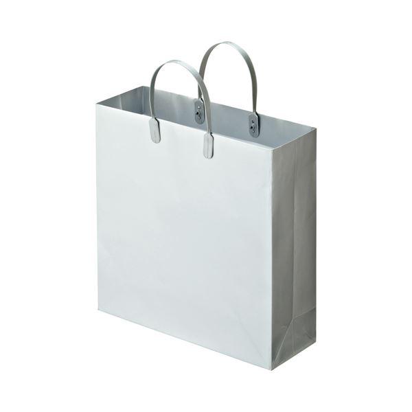 (まとめ) TANOSEE ラミネートバッグ 中 ヨコ320×タテ320×マチ幅110mm シルバー 1パック(10枚) 【×5セット】