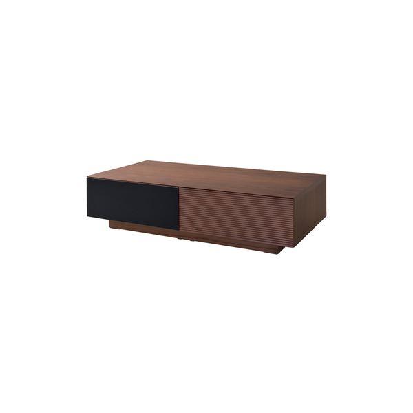 ローテーブル/センターテーブル 【ウォールナット】 幅120cm 木製 『フルモス』 〔リビング 店舗 飲食店〕【代引不可】