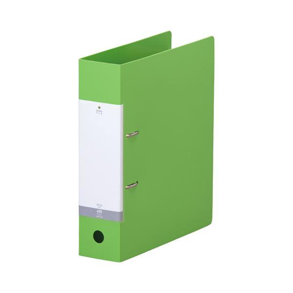 (まとめ) リヒトラブ リクエスト D型リングファイル A4タテ 2穴 650枚収容 背幅74mm 黄緑 G2280-6 1冊 【×30セット】