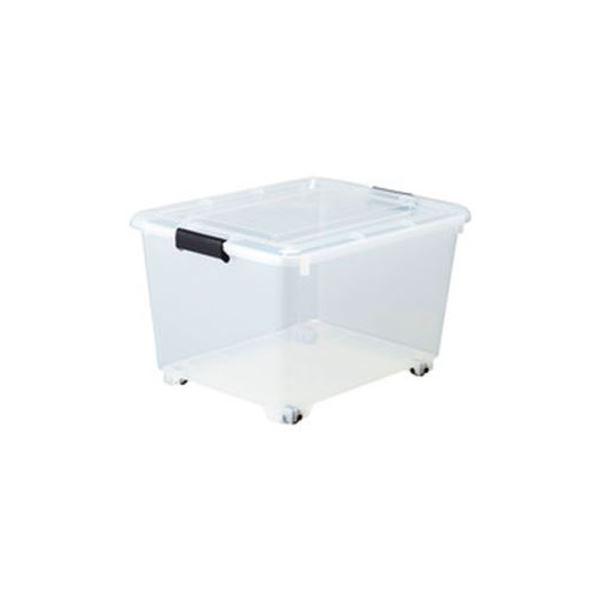 【スーパーSALE限定価格】(まとめ)コロ付クリアボックス 10個組【×3セット】