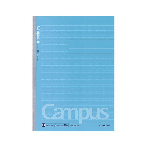 (まとめ) コクヨ キャンパスノート(ドット入り罫線) A4 B罫 40枚 ノ-201BTN 1セット(5冊) 【×10セット】