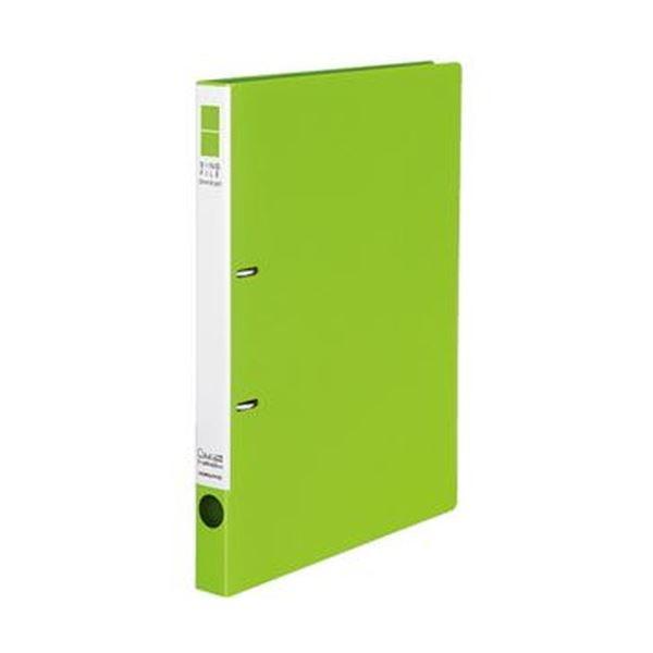 (まとめ)コクヨ リングファイル(スリムスタイル)A4タテ 2穴 180枚収容 背幅27mm 黄緑 フ-URF420YG 1冊【×50セット】