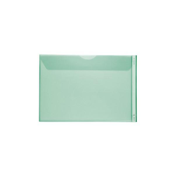 (まとめ) キングジム Mホルダー A3ヨコ 緑フタ付 753E 1セット(5枚) 【×10セット】