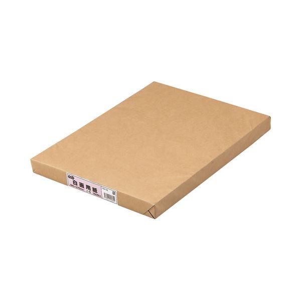 (まとめ) TANOSEE 白画用紙 八つ切 業務用パック 1パック(100枚) 【×10セット】