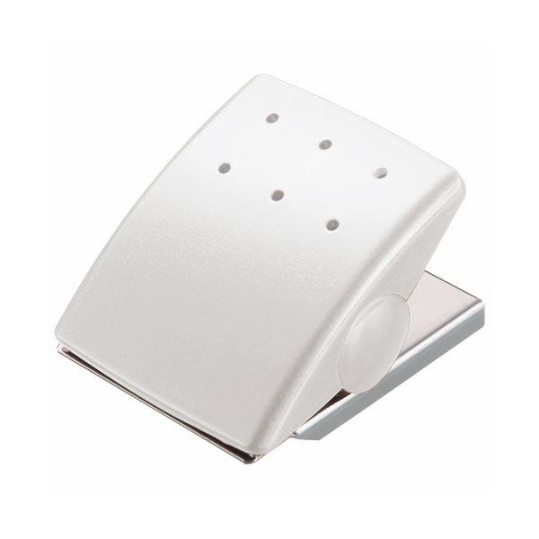 (まとめ) ライオン事務器 マグネットクリップW43×D53×H33mm ホワイト MC-1W 1個 【×30セット】