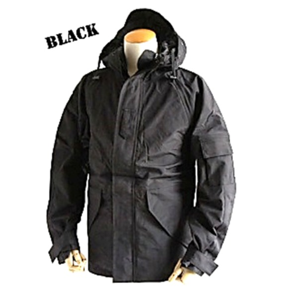 アメリカ軍 ECWC S-1ジャケット/パーカー 【 Mサイズ 】 透湿防水素材 JP041YN ブラック 【 レプリカ 】