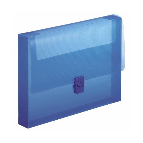 (まとめ) ライオン事務器 ハンドファイル A4背幅40mm ブルー CS-860 1冊 【×30セット】