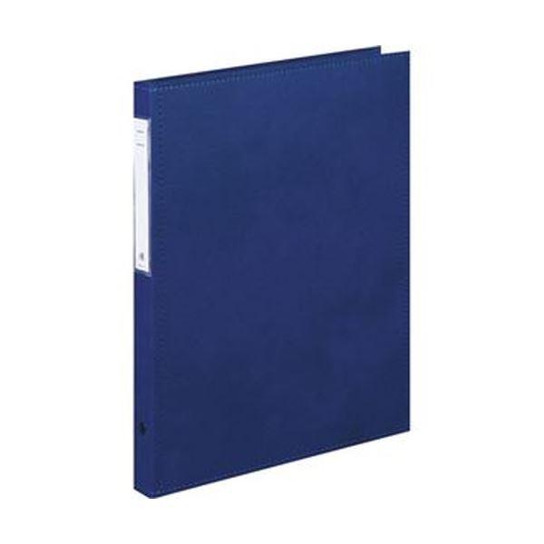 4穴 HB407-1 カルテブック(スタンダード)A4タテ 1冊【×5セット】 背幅28mm (まとめ)リヒトラブ ブルー