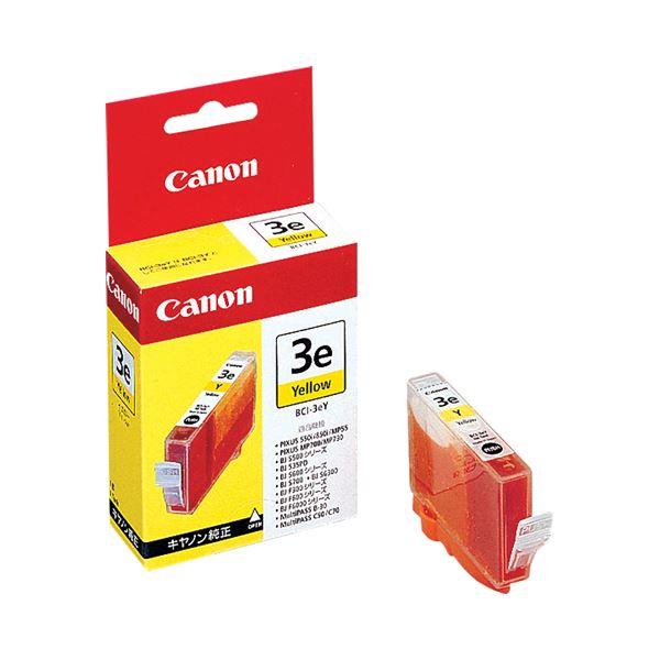 (まとめ) キヤノン Canon インクタンク BCI-3eY イエロー 4482A001 1個 【×10セット】