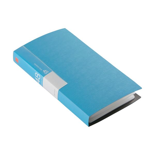 (まとめ) バッファローCD&DVDファイルケース ブックタイプ 48枚収納 ブルー BSCD01F48BL 1個 【×30セット】