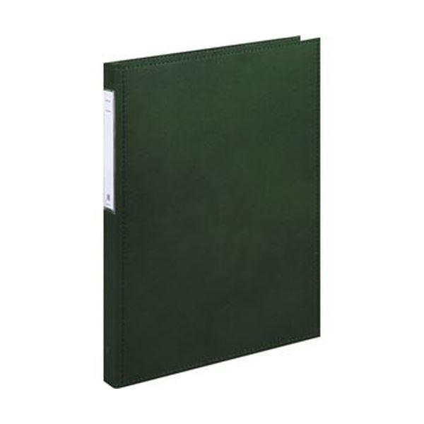 (まとめ)リヒトラブ カルテブック(スタンダード)A4タテ 2穴 背幅28mm グリーン HB406-3 1冊【×5セット】