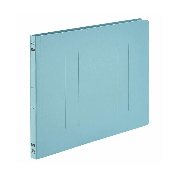 (まとめ) TANOSEE フラットファイルE A4ヨコ 150枚収容 背幅18mm ブルー 1パック(10冊) 【×30セット】