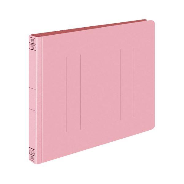 (まとめ) コクヨ フラットファイルW(厚とじ) A4ヨコ 250枚収容 背幅28mm ピンク フ-W15P 1セット(10冊) 【×10セット】
